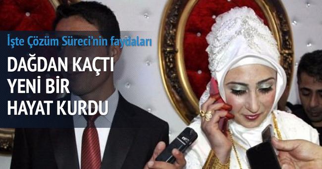 PKK'dan ayrıldı evlendi, Davutoğlu tebrik etti