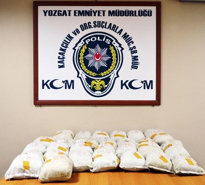 Yozgat Polisi 58 Kilo Toz Esrar Ele Geçirdi