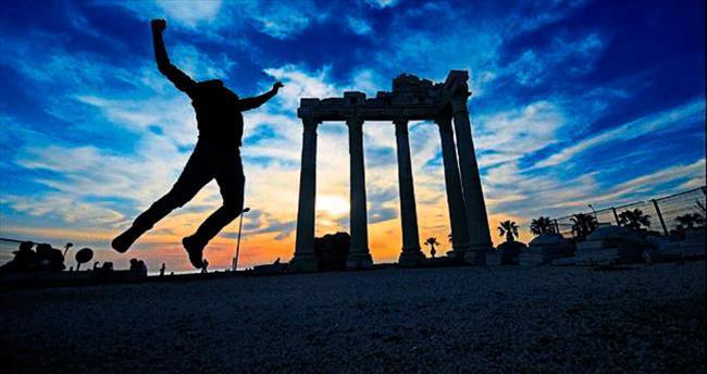 Apollon Tapınağı'nda günbatımı