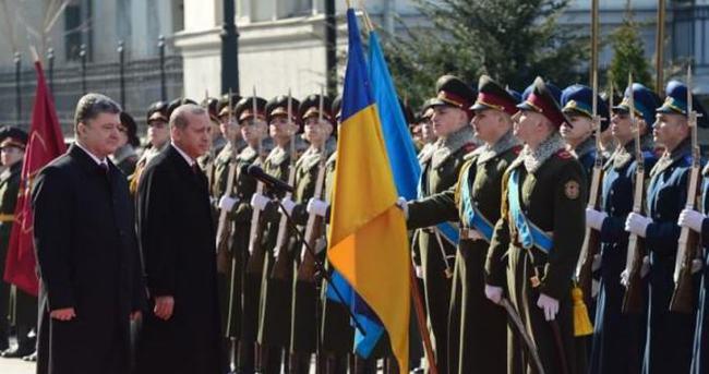 Erdoğan'a Kiev'de üst düzey karşılama