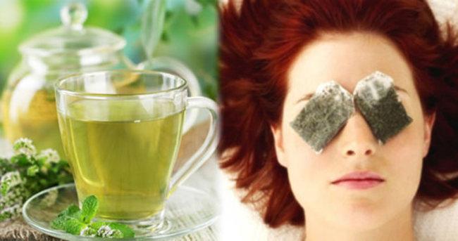 Cildi gençleştiren yeşil çay maskesi