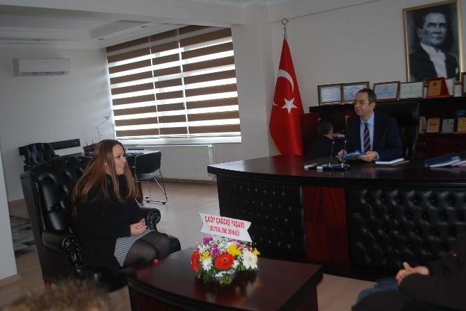 Çağdaş Yaşamı Destekleme Derneği'nden Çerkezköy Kaymakamı Kubilay'a Ziyaret