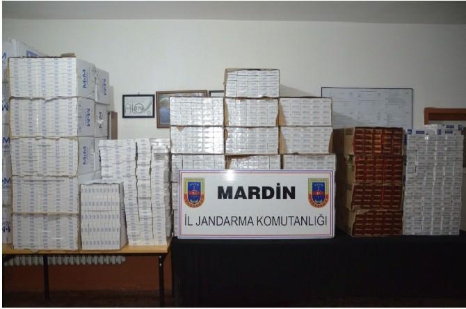 Mardin'de 50 Bin Paket Kaçak Sigara Ele Geçirildi