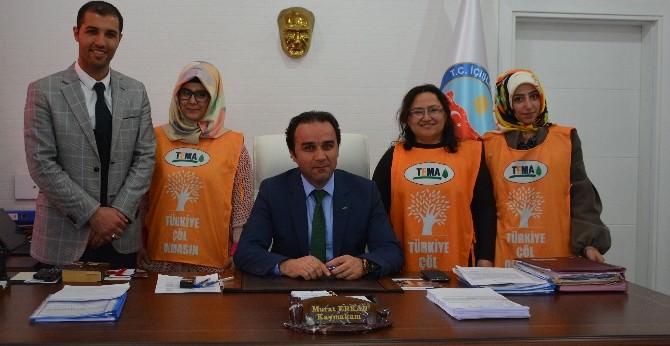 TEMA Vakfı'ndan Kaymakam Erkan'a Ziyaret