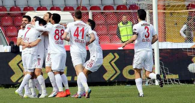 Gaziantepspor tek attı, üç aldı