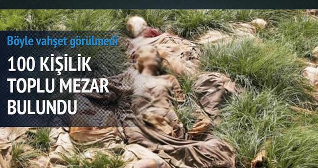 100 kişilik toplu mezar bulundu