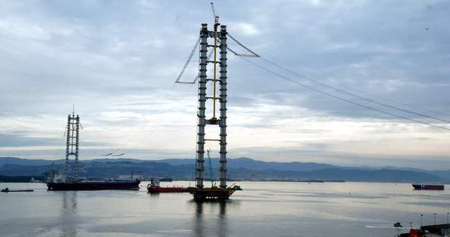 İzmit Körfez Geçiş Köprüsü'nde kılavuz kablo koptu