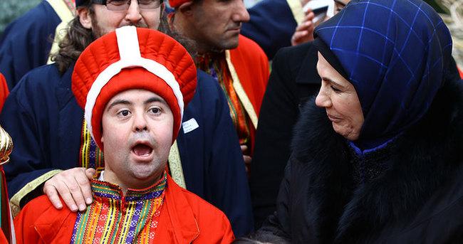Emine Erdoğan down sendromlu çocukları unutmadı
