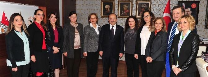 Kadın Girişimciler Kurulu, Başkan Gümrükçüoğlu'nu Ziyaret Etti