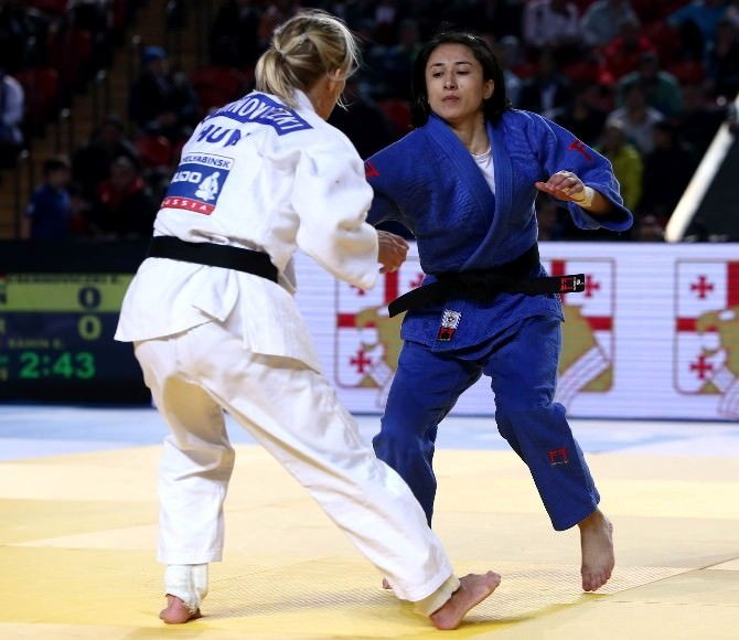 Milli Judocu Ebru Şahin'den Tiflis'te Bronz Madalya