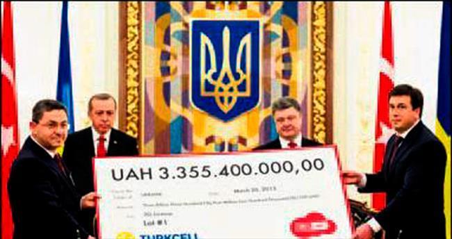Ukrayna'da 3G ihalesine sembolik çek