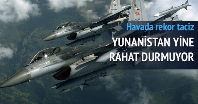 Yunan uçaklarından rekor radar tacizi