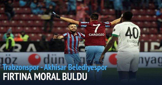 Trabzonspor Akhisar Belediye maçı özeti ve golleri (Samba değil horon!)