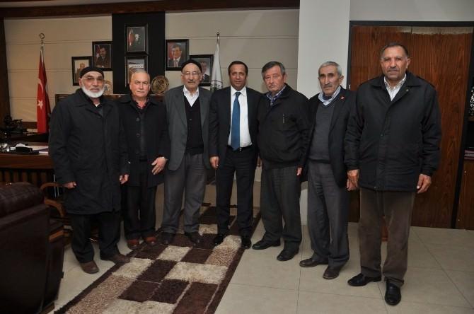 Gaziler Başkan Toltar'ı Ziyaret Etti
