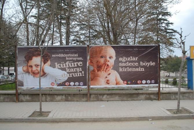 """Bolvadin'de """"Ağızlar Kirlenmesin-küfre Hayır"""" Kampanyası"""