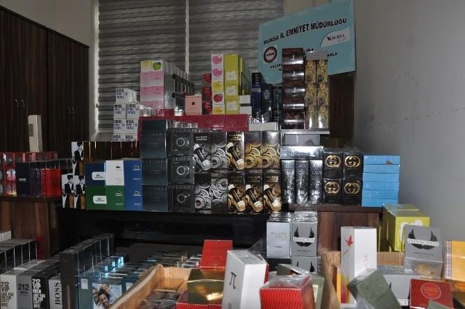 İnegöl Polisinden Kaçak Parfüm Operasyonu