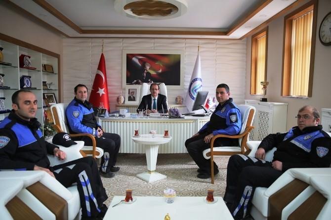 Toplum Destekli Polisler, Rektör Coşkun'u Ziyaret Etti