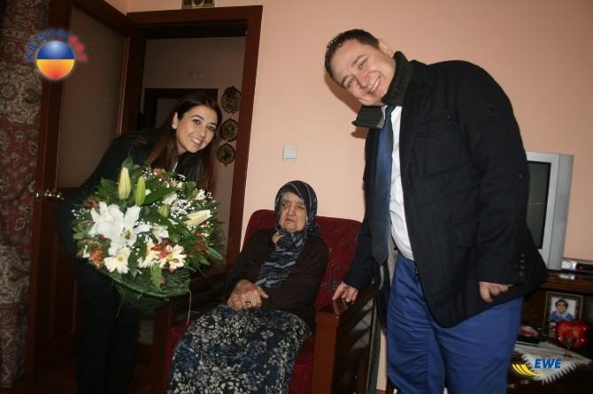 Kayserigaz Yaşlılar Haftasında En Yaşlı Abonelerini Ziyaret Etti