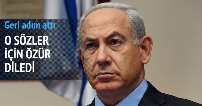 Netanyahu o sözleri için Filistinlilerden özür diledi