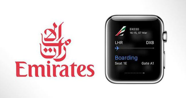 Emirates Apple Watch'a hazır