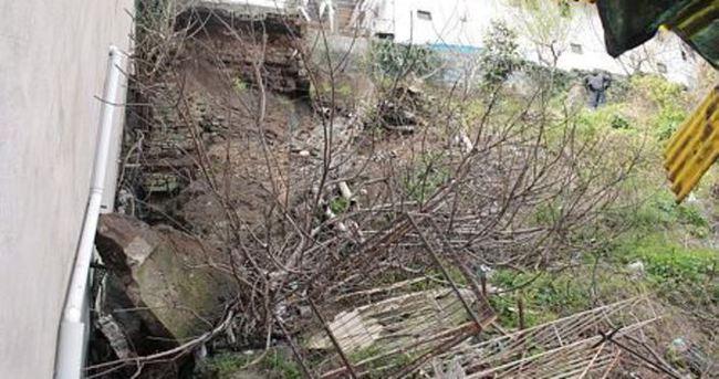 Zonguldak'ta heyelan