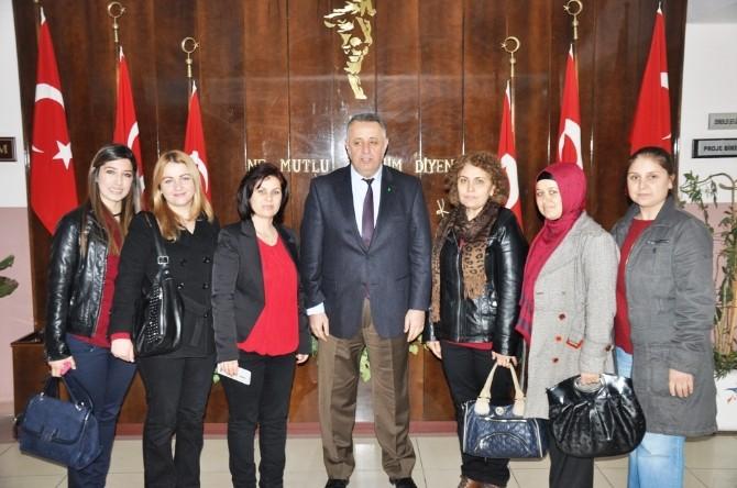 Ödemişli AK Kadınlardan Kaymakam Ateşoğlu'na Ziyaret