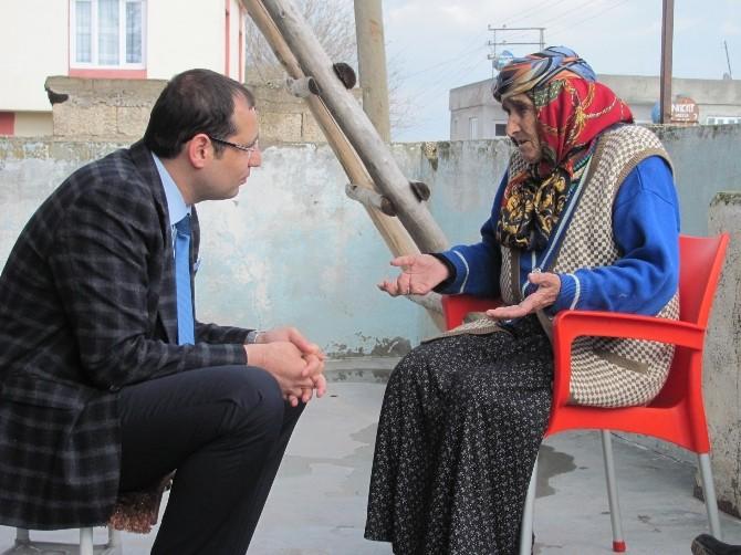 Araban Kaymakamı Karabektaş, Yaşlıları Ziyaret Etti