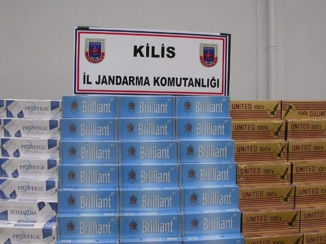 Kilis'te 21 Bin Paket Kaçak Sigara Ele Geçirildi