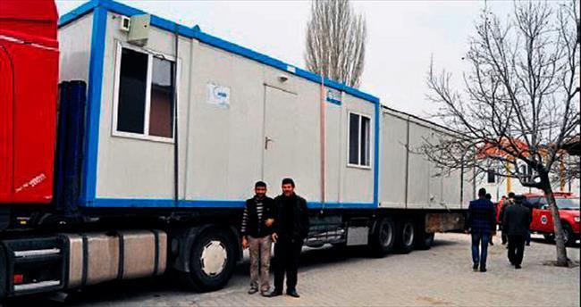 Depremzede vatandaşlara konteynerler teslim edildi