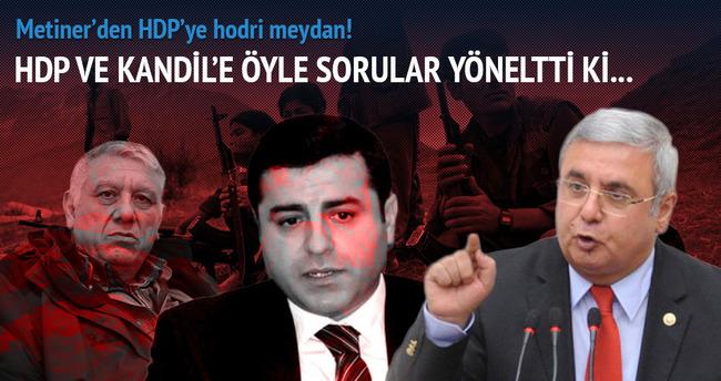Metiner'den HDP'ye 'Hodri meydan'
