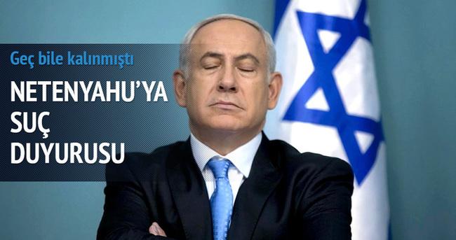 İsrail başbakanı Netenyahu hakkında suç duyurusu