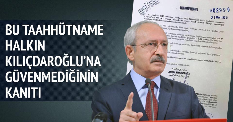 'Halkın Kılıçdaroğlu'na güvenmediğinin itirafı'