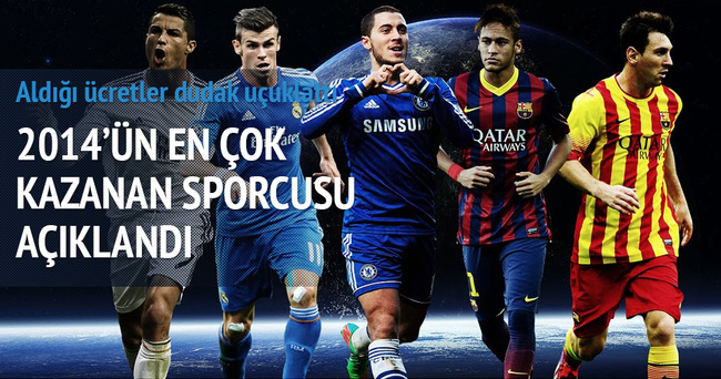 2014 yılının en çok kazananı Messi