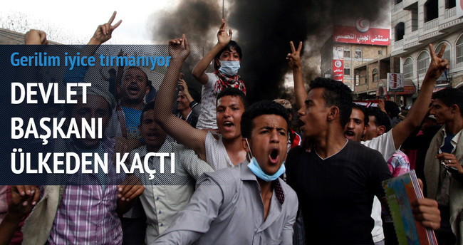 Yemen Devlet Başkanı Hadi'nin ülkeyi terk etti