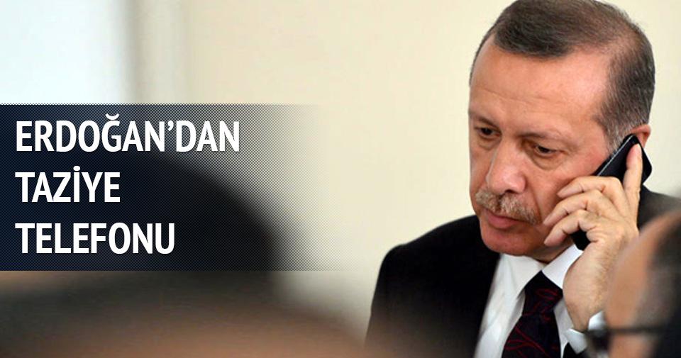 Erdoğan'dan taziye telefonu