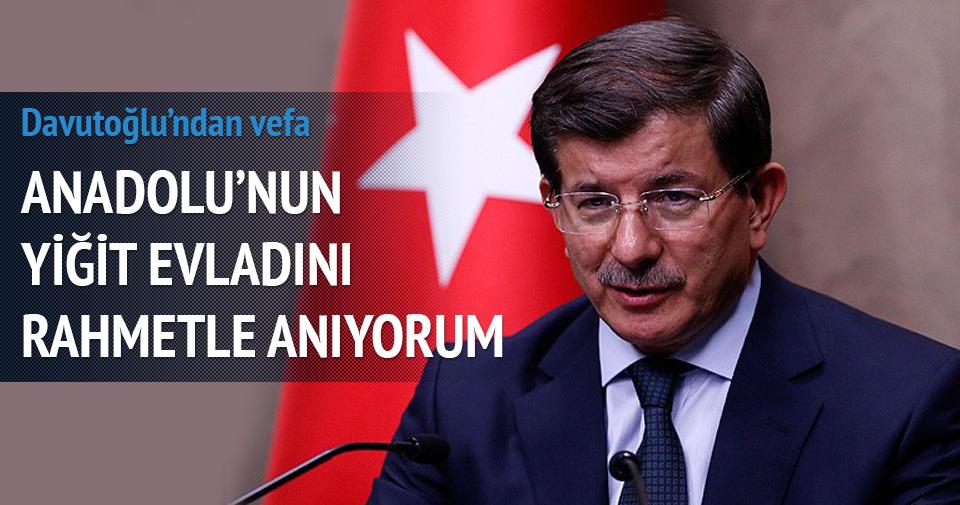 Davutoğlu Yazcıoğlu'nu unutmadı