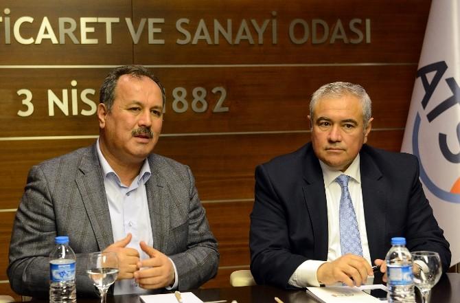Türkiye Ticaret Ve Sanayi Şurası İl Hazırlık Toplantısı ATSO'da Yapıldı