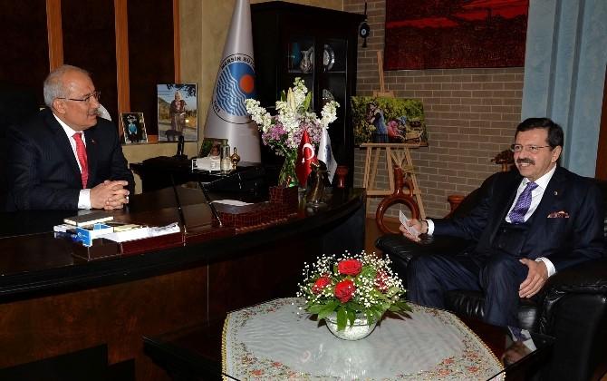 TOBB Başkanı Hisarcıklıoğlu'ndan Başkan Kocamaz'a Ziyaret