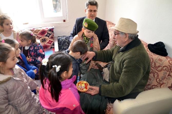 Çifteler'de 96 Yaşındaki Gaziye Anlamlı Ziyaret