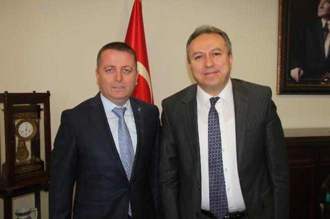 Sarıoğlu Vali Fidan'ı Ziyaret Etti