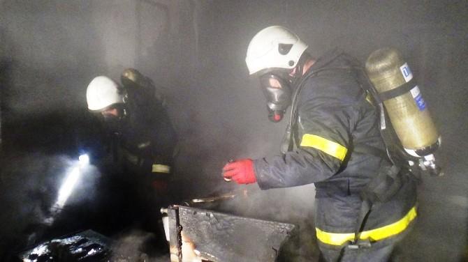 Malatya'da Kargo Şirketinde Yangın