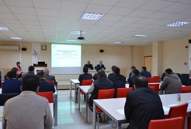 Mardin'de Beton Üreticileriyle Toplantı Yapıldı