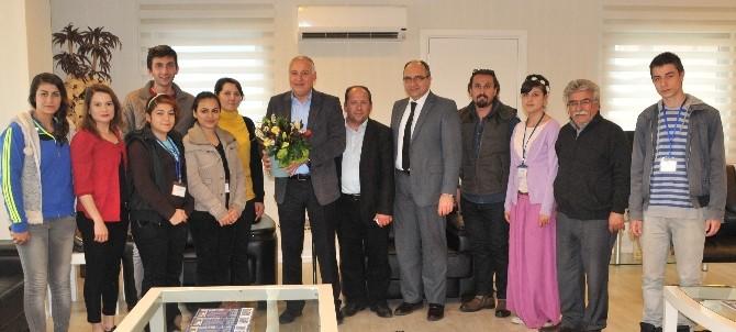 Kursiyerlerden Aesob Başkanı Sevimçok'a Ziyaret