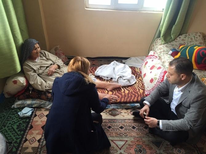 Tokur'dan İlçelerde Hasta Ziyaretleri