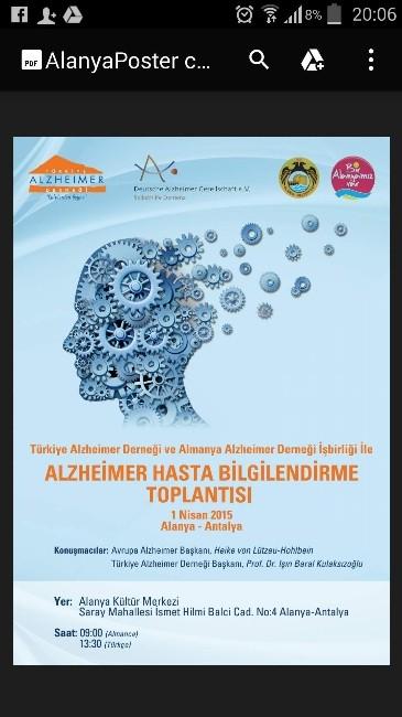 """""""Alzheimer Hasta Bilgilendirme Toplantısı,"""" 1 Nisan'da Kültür Merkezi'nde Yapılacak"""