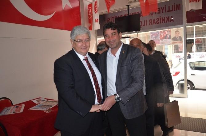 Akhisar Bakkallar Odası'ndan MHP İlçe Teşkilatına Ziyaret