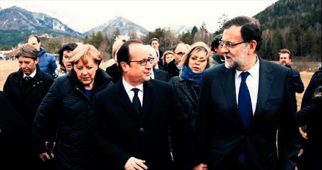Merkel, Hollande ve Rajoy bölgeye geldi