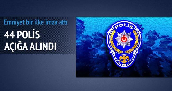 Eşini döven 44 polis açığa alındı