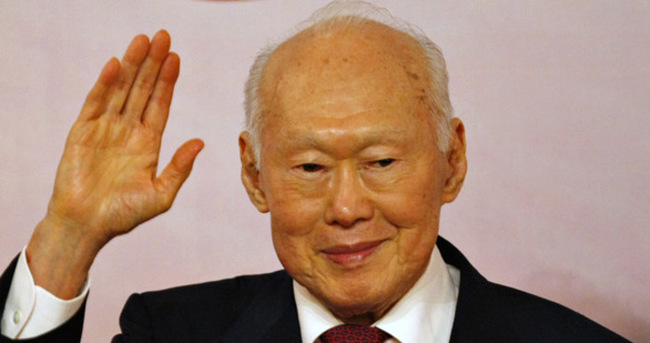 Lee Kuan Yew'in cenazesinde izdiham