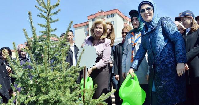 Emine Erdoğan Bereket Ormanları projesini başlattı